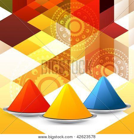vector set of colorful holi festival gulal