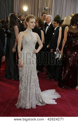 LOS ANGELES, CA - FEB 24: Amanda Seyfried at the 85th Annual Academy Awards on February 24, 2013 in Los Angeles, California