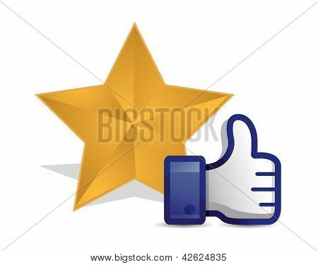 Quality Star Review Thumb Up