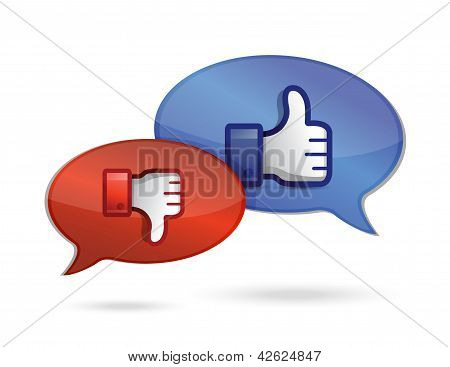 Communication Or Chatting Thump Up & Thumb Down