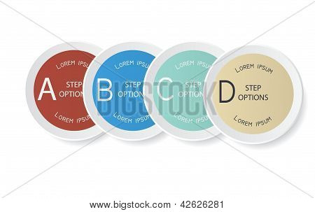 Vector set of stickers. Design template.