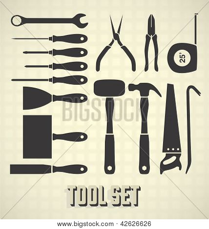 Vector Set: Tool Silhouettes