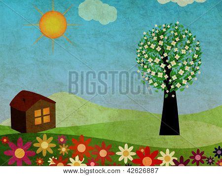 Grunge Springtime House