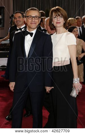 LOS ANGELES, CA - FEB 24: Christoph Waltz, Judith Holste  at the 85th Annual Academy Awards on February 24, 2013 in Los Angeles, California