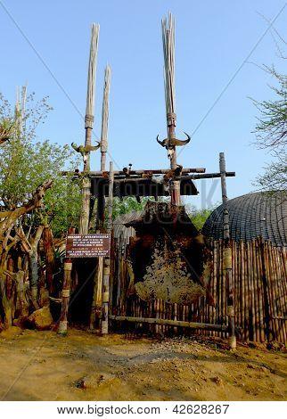 Shakaland Zulu Village in Kwazulu Natal province, South Africa.