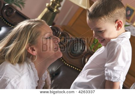 Young Mother And Son