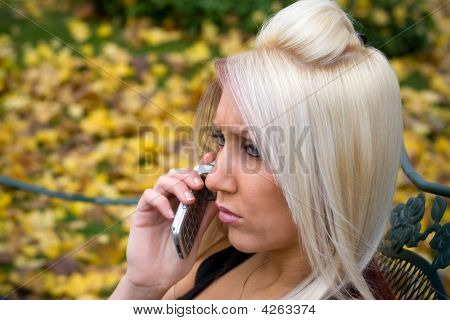 Blond Girl On The Phone