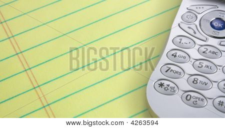 Cell Phone And Legal Pad