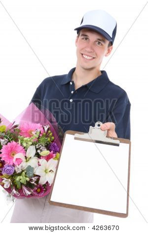 Man Delivering Flowers