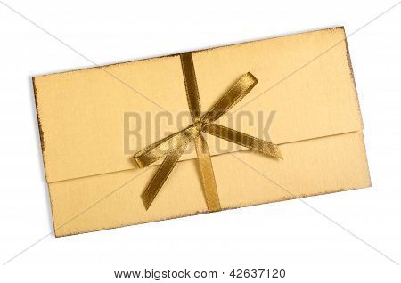 Vintage Envelopes With A Bow.