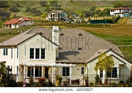 Luxury Homes On A Hillside