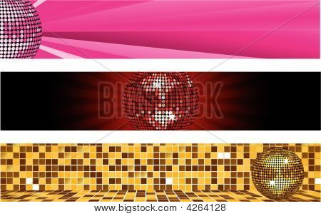 Disco Ball Banners