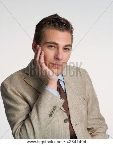Young businessman portrait.
