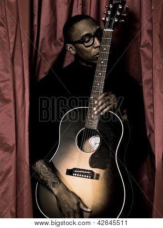 PARIS, FRANCE - FEBRUARY 08, 2011: Portrait of the american singer Raphael Saadiq at Paris, France on february 8th, 2011