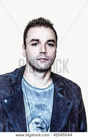 PARIS, FRANCE - JULY 04, 2012: Portrait of the english rock group Muse bassist Christopher Wolstenholme at Paris, France on july 4th, 2012