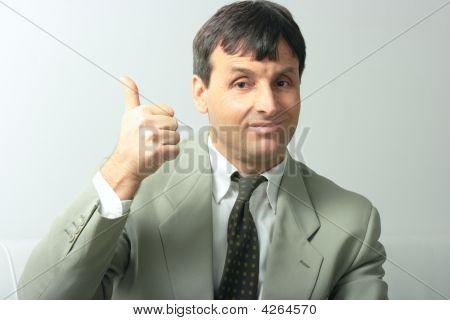 Businessman Showing Allright