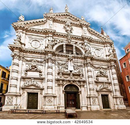 San Moise Church In Venice, Italy