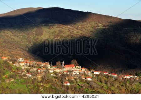 Lampero Village At Thessaly Greece