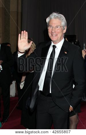 LOS ANGELES - FEB 24:  Richard Gere arrives at the 85th Academy Awards presenting the Oscars at the Dolby Theater on February 24, 2013 in Los Angeles, CA
