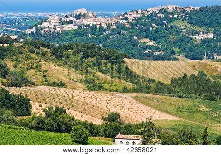 View of Santarcangelo di Romagna. Emilia-Romagna. Italy.