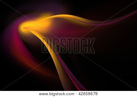 Golden Fractal Art Background