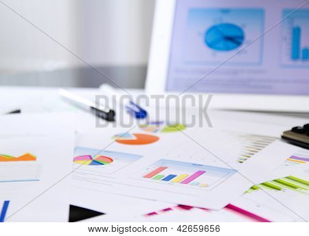 Business Documents On Desktop