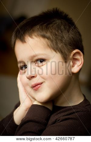Portrait of a cute little boy