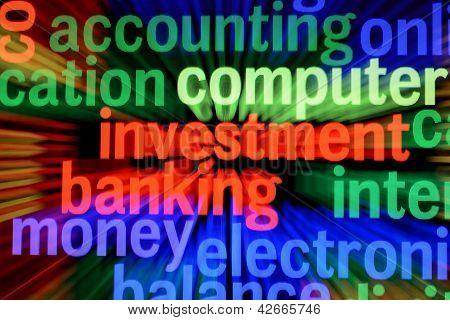 Investeringen en bancaire Concept