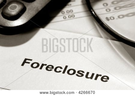 Real Estate Foreclosure Notice And Bank Statement