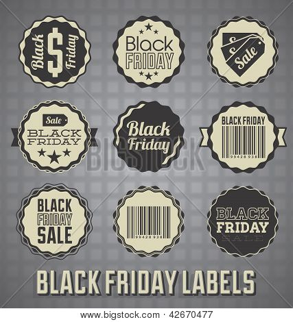 Vector Set: Black Friday Sale Labels