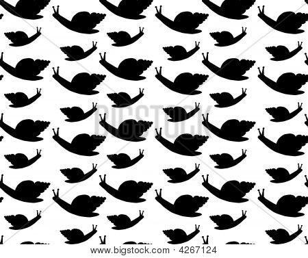 Seamless Snail Background Pattern
