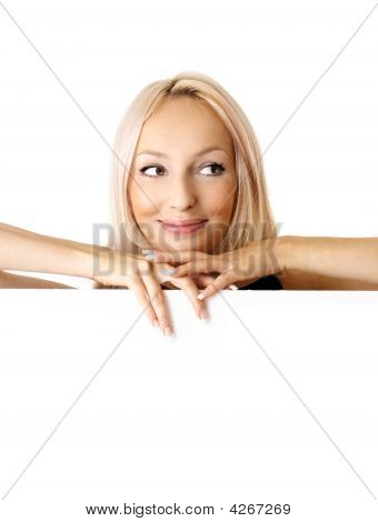 Woman And Billboard