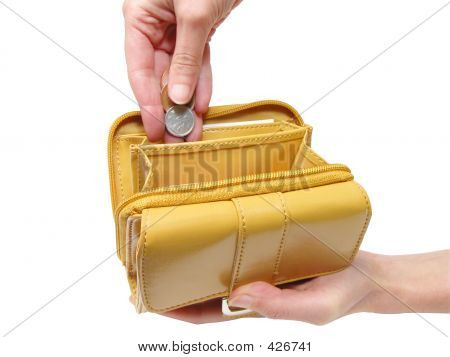 Wallet And Hands-clipping Path