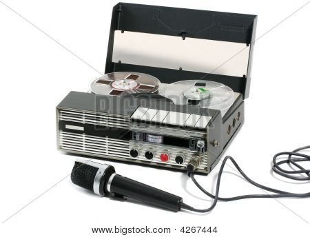 Portable Tape Recorder And Microphone