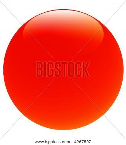 Big Bright Red Glossy Ball