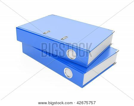 A Blue  Ring Binder