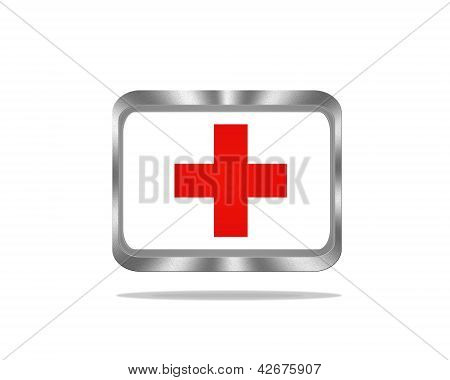 Red Cross Button.