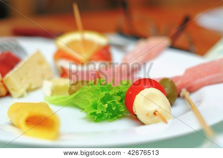 Appetizer, Focus On Green Salad