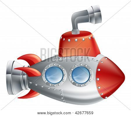 Fun Cartoon Submarine