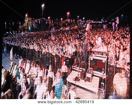 Large LED concert panel