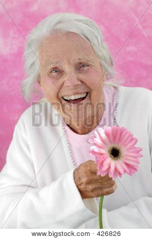 Laughing Great Grandmother