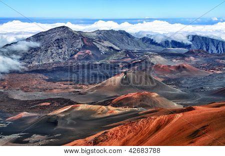 Caldera van de vulkaan Haleakala Maui, Hawaii
