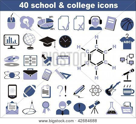 40 School And College Icons