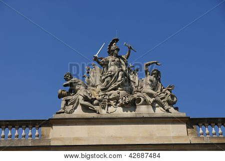 Closeup of Brandenburg gate