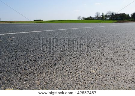 Closeup to asphalt