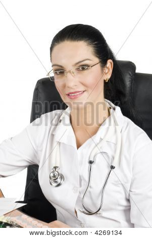 Portrait Of Beautiful Doctor
