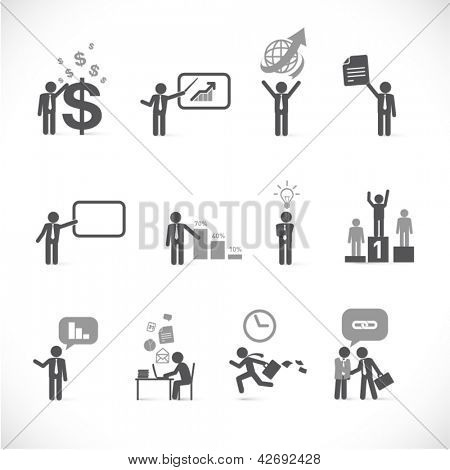 Metáforas do homem de negócios - Figura 2 coleção de jogo