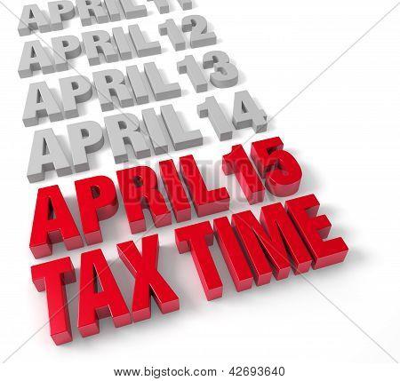 Tax Time April 15Th