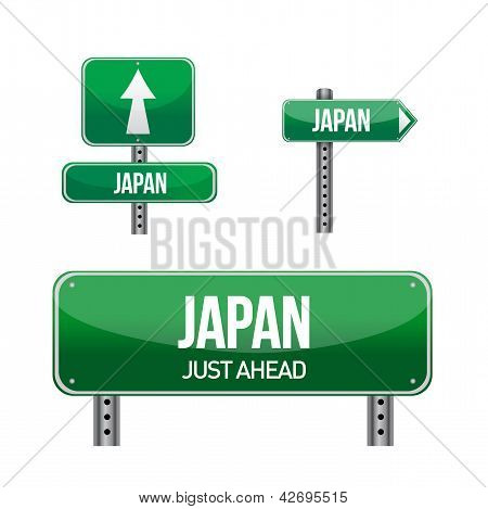 Japan Country Road Sign