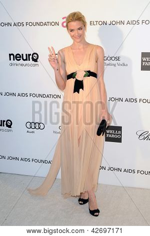 LOS ANGELES - FEB 24:  Jaime King arrives at the Elton John Aids Foundation 21st Academy Awards Viewing Party at the West Hollywood Park on February 24, 2013 in West Hollywood, CA